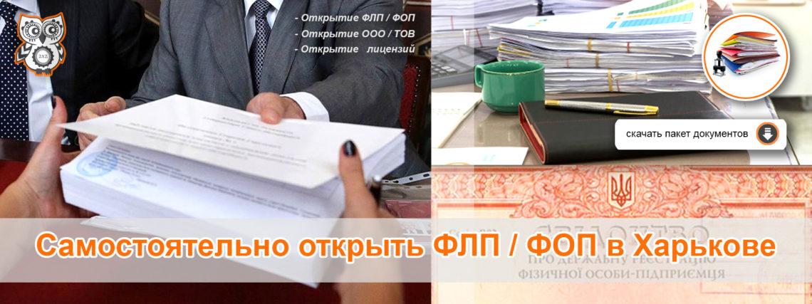 Скачать пакет документов для самостоятельной регистрации ФЛП / ФОП в Харькове
